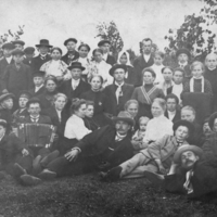 Jaaniöö Ense küla vainul (Pärnu-Jaagupi) 1930 a. paiku.